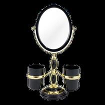 Espelho de Bancada com Suportes Laterais - Preto - JACKI DESIGN