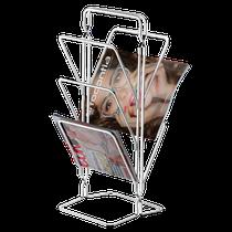 Porta-Revistas Layers - 20 x 20 x 50cm - Aço Cromado