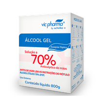 Álcool Gel 70% Refil 800 ml