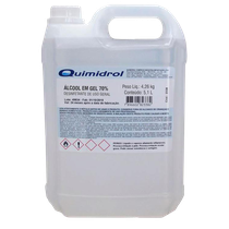 Álcool Gel Desinfetante 70° 5,1L - QUIMIDROL