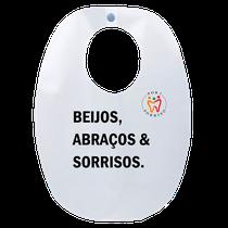 Babador Impermeável Adulto - Beijos, Abraços & Sorrisos - FUN WORK