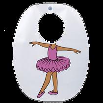 Babador Impermeável Infantil Bailarina - Lilás - FUN WORK