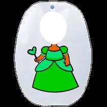 Babador Impermeável Infantil Princesa Flora - FUN WORK