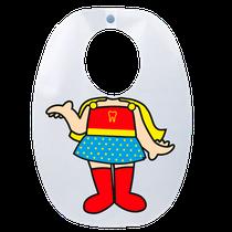 Babador Impermeável Infantil - Super Heroína - FUN WORK