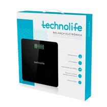 Balança Digital até 250kg Preta - TECHNOLIFE