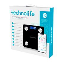 Balança Digital de Bioimpedância com Bluetooth Preta - TECHNOLIFE