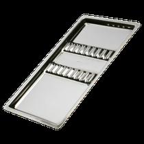 Bandeja Aço Inox 23cm x 13cm c/ Separação - Média - DUFLEX