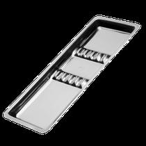 Bandeja Aço Inox 22,5cm x 10cm c/ Separação - Pequena - DUFLEX
