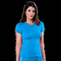Blusa Scrub Feminina Dry Fit - Azul