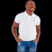 Camisa Masculina Polo Mr. Kitsch - Branco - FUN WORK