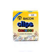 Clips 3/0 c/ 50 Unidades Colorido - BACCHI