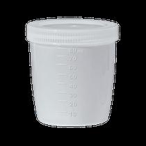 Coletor de Urina Universal Tampa Branca 80ml - J PROLAB