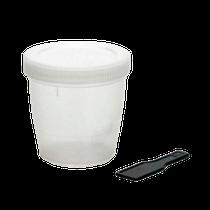Coletor de Urina Universal Tampa Branca com Pá 80ml - J PROLAB