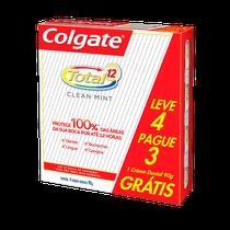 Creme Dental Colgate Total 12 - Clean Mint 90g Leve 4 Pague 3