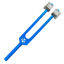Diapasão Médico MD em Alumínio Azul 256 c/ Fixador