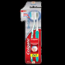 Escova Dental Slim Soft Ultra Compacta Leve 2 Pague 1