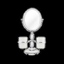 Espelho de Bancada c/ Suportes Laterais - Branco