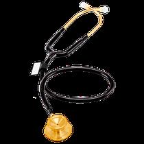 Estetoscópio Acoustica Deluxe Duplo - Gold Black - MDF