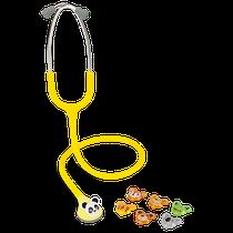 Estetoscópio Pediátrico Fun Animal Amarelo - SPIRIT