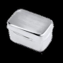 Estojo Liso Inox - 6 x 3,5 x 3,5cm - GOLGRAN