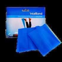 Faixa Elástica de Resistência Extra Forte 15cm x 1,5m - Azul - VITALBAND