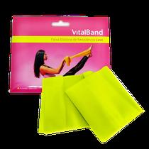 Faixa Elástica de Resistência Leve 15cm x 1,5m - Amarelo - VITALBAND