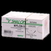 Fio de Sutura Nylon 0 CTI 3/8 Ag. 2,0 cm - Triangular