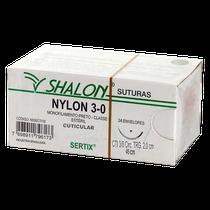 Fio de Sutura Nylon CTI 3/8 - Ag. 2,0cm Triangular