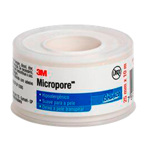 Fita Hipoalergênica Micropore 25mm x 10m - Branca - 3M