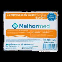 Compressa de Gaze Estéril 11 Fios - MELHORMED