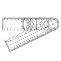 Goniômetro para Ortopedia em Acrílico 200 x 45mm - TRIDENT