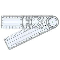 Goniômetro para Ortopedia em PVC 200 x 45mm - TRIDENT