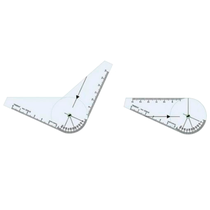 Goniômetro Pequeno para Ortopedia em Acrílico 200 x 45mm - TRIDENT