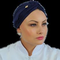 Gorro Turbante Feminino - Azul Marinho - DANA JALECOS
