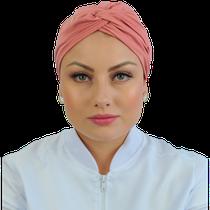Gorro Turbante Feminino - Rosa Nude - DANA JALECOS