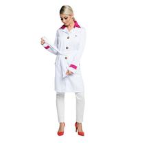 Jaleco Fancy - Branco c/ Detalhe Pink
