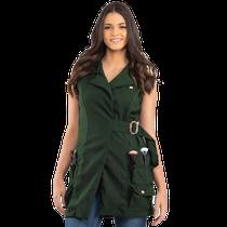 Jaleco Valentina Maquiadora Verde Militar - DRA. CHERIE