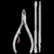 Kit Alicate de Cutícula Inox 778 + Espátula