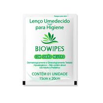 Lenço Umedecido para Higiene SWAB com Sabão Neutro - BIOWIPES