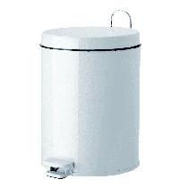 Lixeira com Pedal 5,5L - Branca - PURIMAX