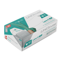 Luva Verde Látex p/ Procedimento s/ Pó Lano-E Premium Quality - UNIGLOVES