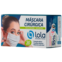 Máscara Cirúrgica Descartável Tripla com Clipe Nasal - Branco