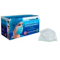 Máscara Descartável Tripla com Elástico - Branco - PROTCLEAN