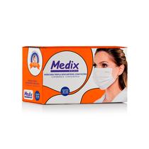 Máscara Descartável Tripla com Filtro Branca - MEDIX