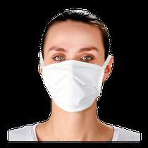 Máscara em Tecido - Branco - COTEMINAS