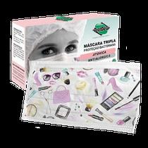 Máscara Tripla com Elástico - Fashion - PROTDESC