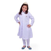 Jaleco Infantil Queen - Branco