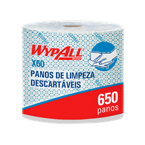 Pano Multiuso X60 Rolo Jumbo Azul Wypall - 28,3cm x 28,9cm - KIMBERLY CLARK