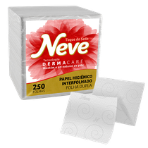 Papel Higiênico Dermacare Folha Dupla - 250 Folhas - NEVE