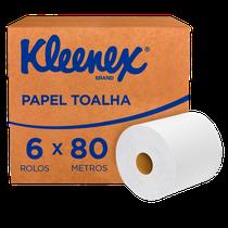 Papel Toalha Airflex Folha Dupla Rolo - 6 x 80m - KLEENEX